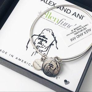 Alex and Ani • Ellen Fund Gorilla Charm Bracelet